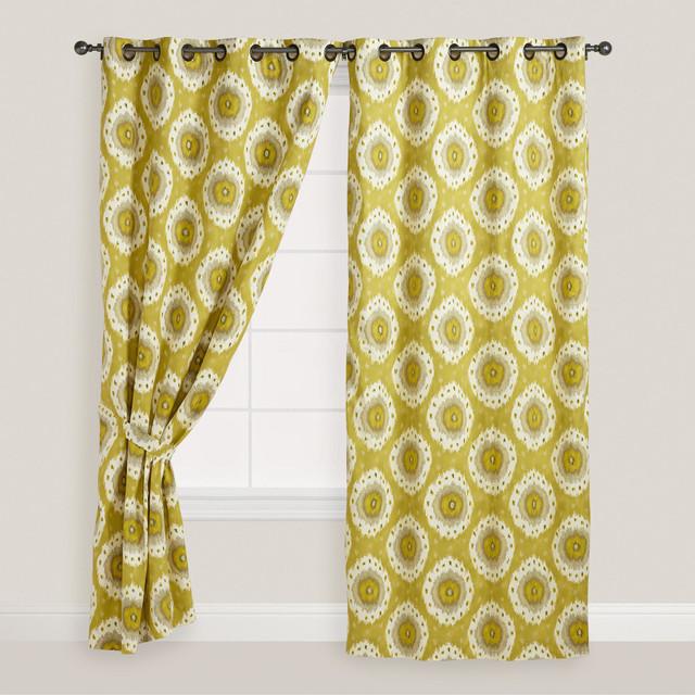 Citrus Ikat Curtain eclectic-curtains