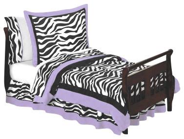 Purple Zebra Toddler Bedding Set 5-Piece contemporary-kids-bedding