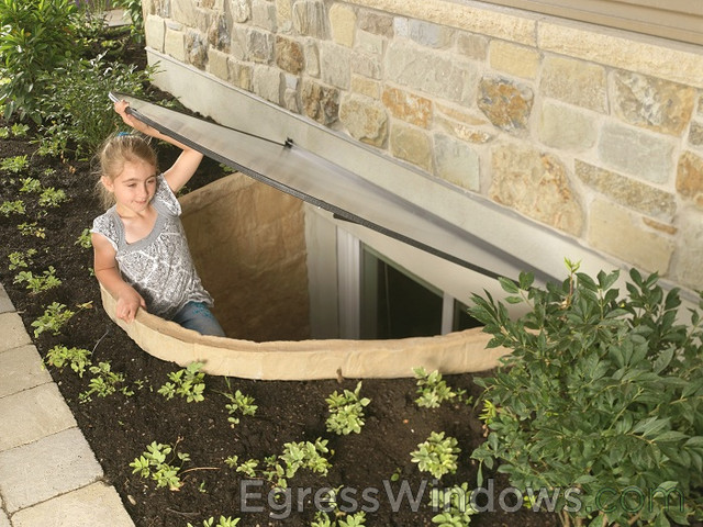 basement egress window kit in tan windows and doors other metro