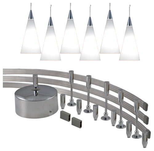 flexible track light for pendant light and spot light led combo