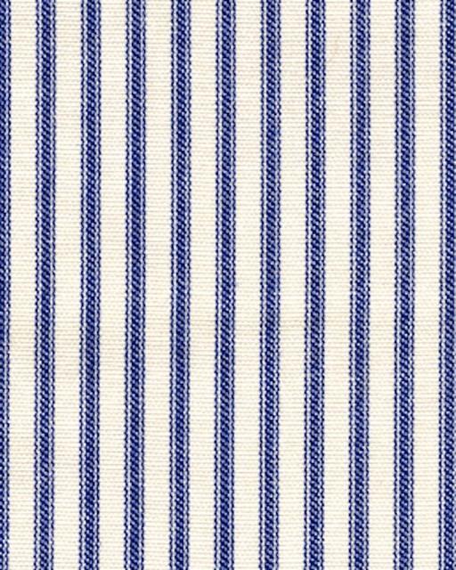 "22"" Bed Skirt Gathered Indigo Blue Ticking Stripe traditional-bedding"
