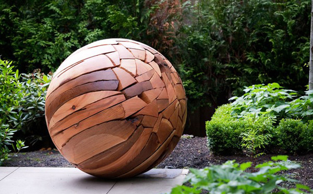 Illuminated Shattered Sphere by Brent Comber