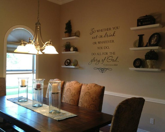 Wall Lettering Designs - Gorgeous design to complete this room. Vinyl lettering adds a professional touch to any room, fills awkward spaces without adding bulk to the room.