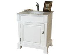 30 Inch Single Sink Vanity-Wood-White modern-bathroom-vanities-and-sink-consoles