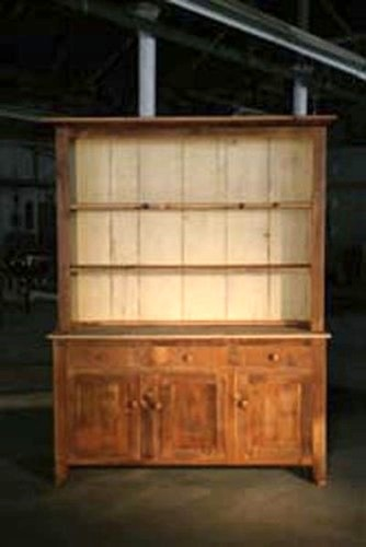 Open Top Hutch With Server Base farmhouse-china-cabinets-and-hutches