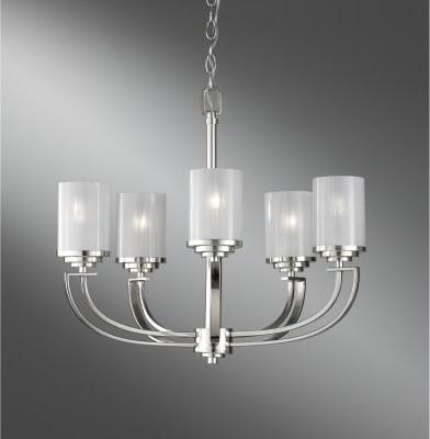 Murray Feiss Finley F2632 / 5PN Chandelier - 21.5 diam. in. - Polished Nickel modern-chandeliers