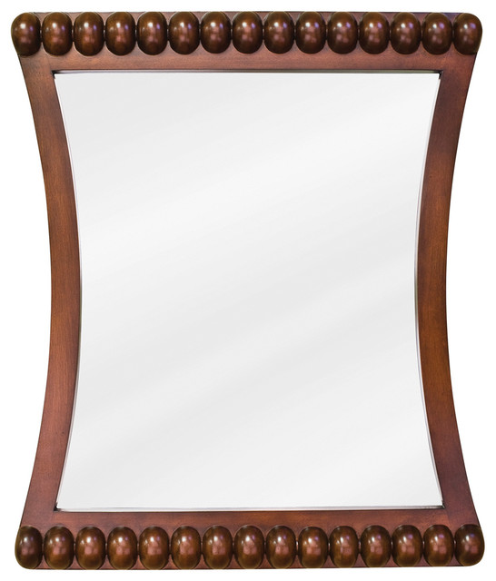 Rosewood Beaded Jeffrey Alexander Mirror 24 x 1-3/4 x 28 traditional-bathroom-mirrors