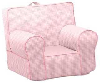 Pink Gingham My First Anywhere Chair Traditional Kids