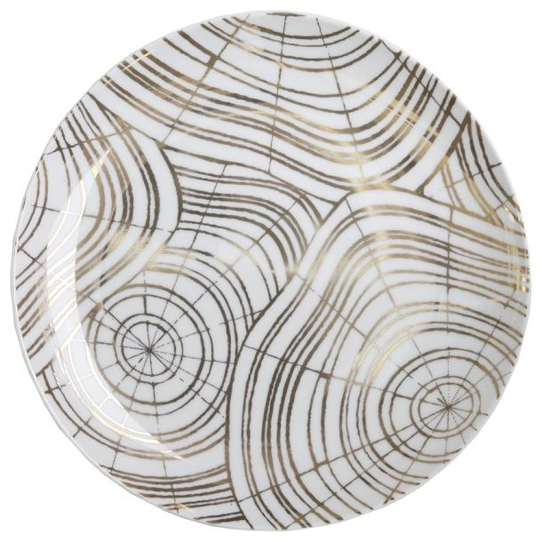 David Stark Wood Slices Salad Plate Set contemporary-salad-and-dessert-plates