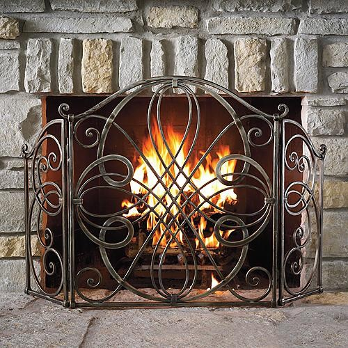Volterra fireplace screen traditional screens and room Decorative fireplace screens