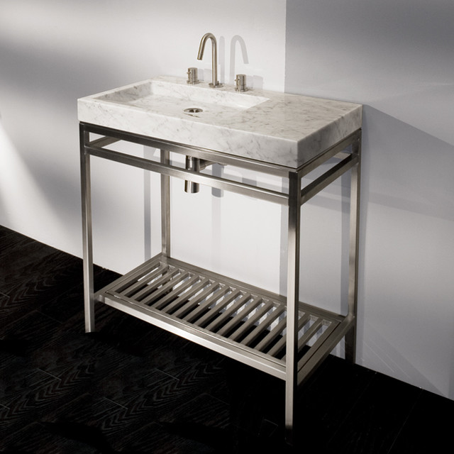 Vanity Bowl Sink : Lacava Stone Single Bowl Vanity - Modern - Bathroom Vanities And Sink ...