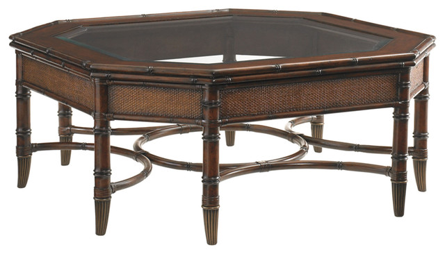 lexington landara marianas cocktail table 545 947 tropical coffee tables by benjamin rugs. Black Bedroom Furniture Sets. Home Design Ideas