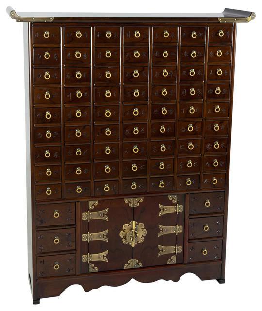 Korean Antique Style 63 Drawer Apothecary Chest - Asian - Accent Chests And Cabinets - by ...