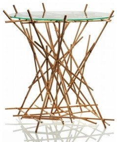 Alessi | FC09 WD Blow Up Small Table - Bamboo modern-side-tables-and-end-tables