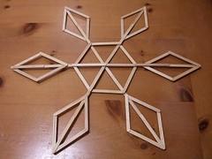 Giant craft stick snowflakes - Crafty Nest