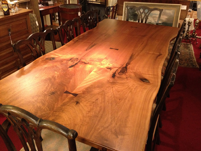 Live Edge Wood Table Brooks Custom Kitchen Countertops