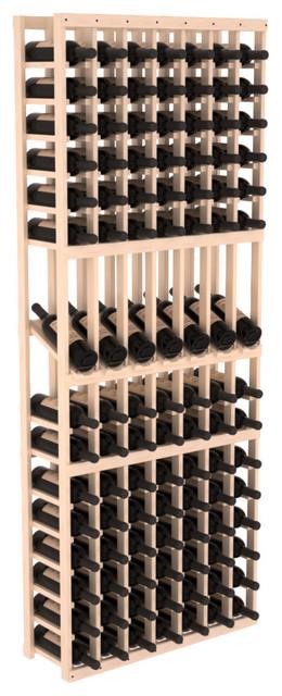 7 Column Display Row Wine Cellar Kit in Pine, Satin Finish contemporary-wine-racks