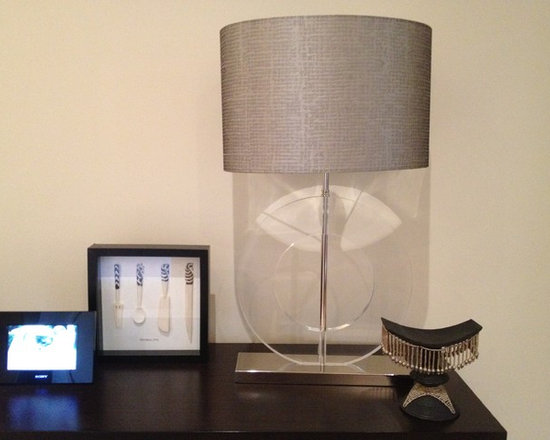 Operation 'Blank Canvas' - Custom made lampshade on round perspex base. Space awaiting artwork!