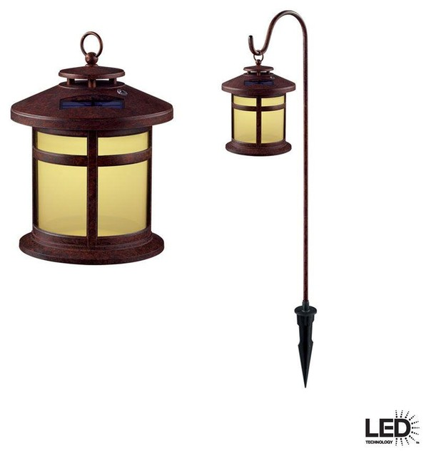 Hampton Bay Bronze Solar Led Pathway Outdoor Light 6 Pack: Hampton Bay Path & Landscape Lights Reviere Outdoor Rustic