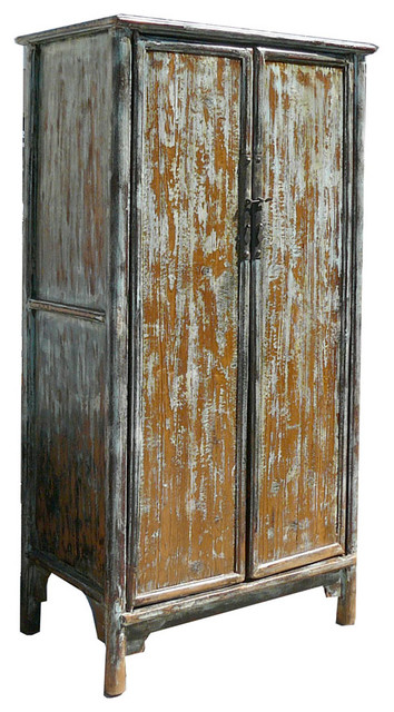 Tall Chinese Antique A Shape Rustic Cabinet Armoire Asian Armoires And