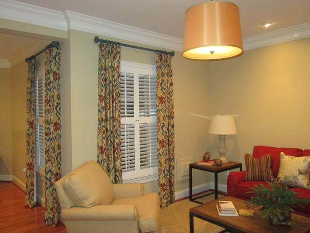 A beautiful home in North Arlington. traditional-curtain-rods