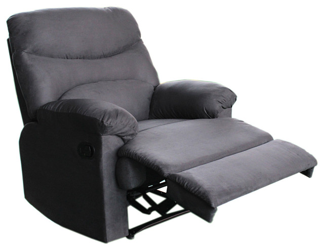 Tucker Charcoal Grey Recliner Contemporary Recliner