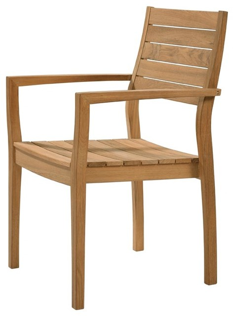 Barlow Tyrie - Horizon Stacking Armchair With Teak Seat armchairs-and-accent-chairs