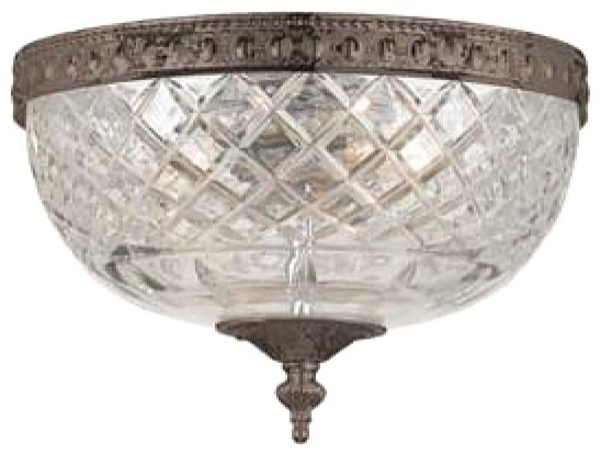 "Crystorama Majestic English Bronze 8"" Wide Ceiling Light traditional-ceiling-lighting"