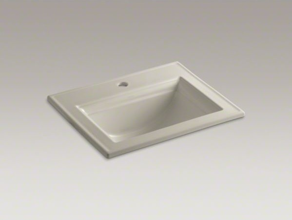 KOHLER Memoirs(R) Stately drop-in bathroom sink with single faucet ...
