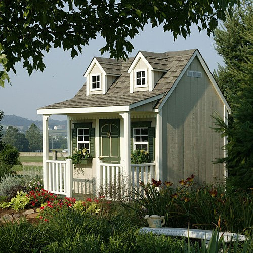 Backyard Cottage Playhouse contemporary-outdoor-playhouses