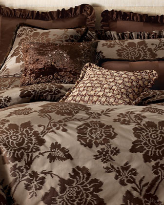 Brompton Court Bed Linens Sequined Embroidered Pillow traditional-decorative-pillows