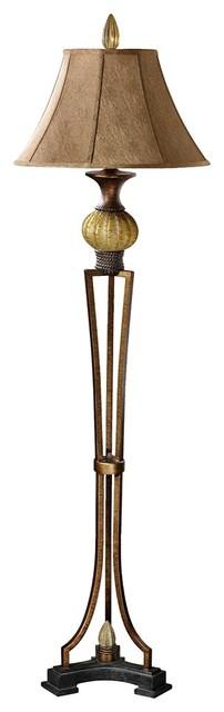Traditional Uttermost Gavet Sea Green Floor Lamp traditional-floor-lamps