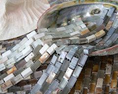 Stone & Glass  & Shell Mosaic Tile tropical-mosaic-tile