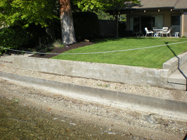 Acid stain your concrete block retaining wall by mode concrete in kelowna bc traditional - Why you should consider concrete staining for your home ...