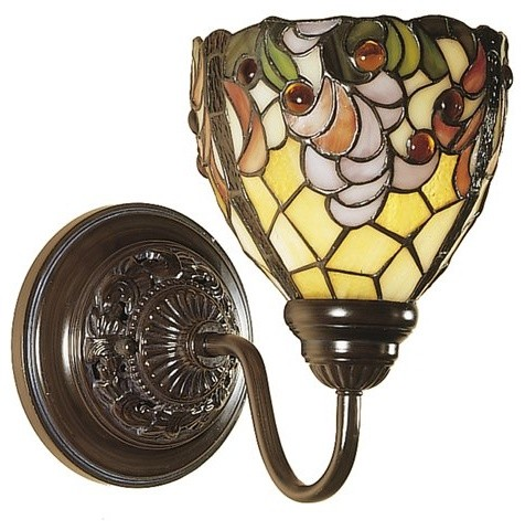 Dale Tiffany Jacqueline Fancy Wall Sconce - traditional - wall ...
