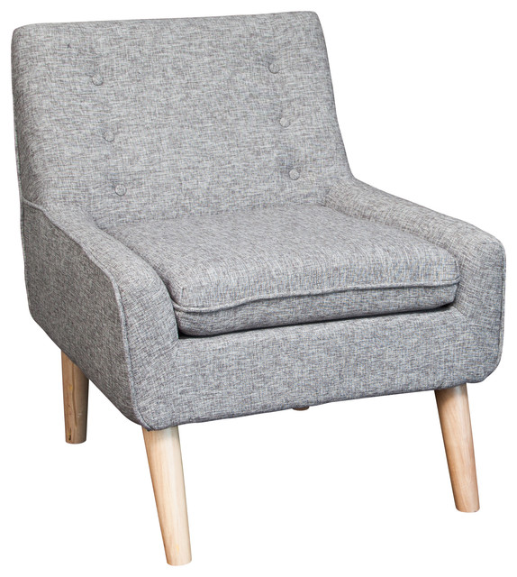 Brocktson Fabric Retro Accent Chair Multi Grey Midcentury Living Room Ch