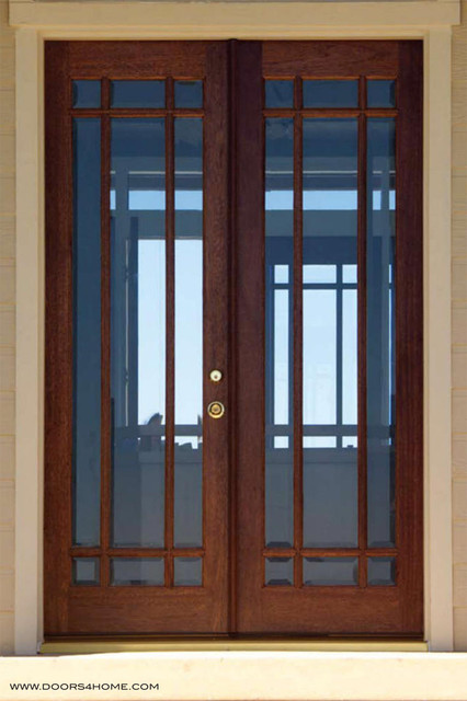 9 lite french doors beveled glass modern front doors - Contemporary glass doors interior ...