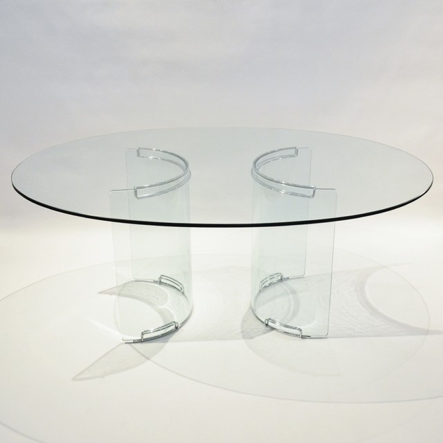piece mid century oval glass dining table midcentury dining tables