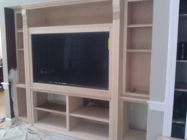 Built-in TV Cabinet - boston - by Lopez & Lopez Contractors. Inc