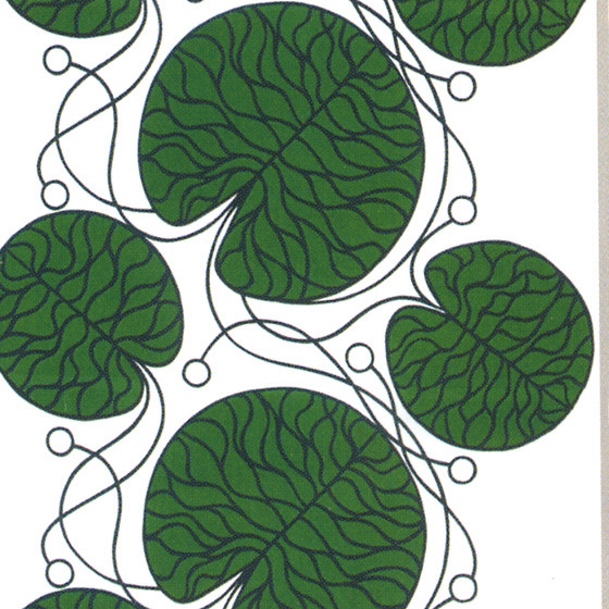 Bottna Green Fabric by Marimekko contemporary upholstery fabric