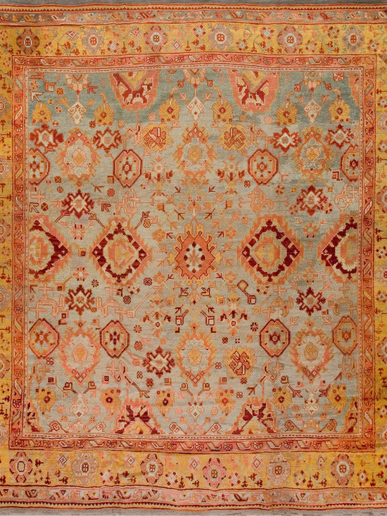Antique Turkish Oushak Carpets - #18464