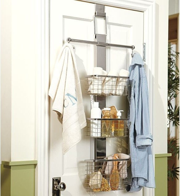 Fantastic These Eight Storage Ideas Will Help Organize The Space You Do Have  This Nifty Item Can Be Hung Over Your Bathroom Door Or On The Shower Curtain Rod It Is