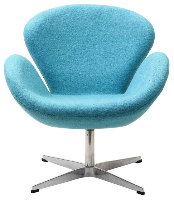 Wing Lounge Chair in Baby Blue modern-chairs