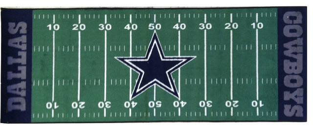 NFL Dallas Cowboys Football Runner Rug - Eclectic - Game ...