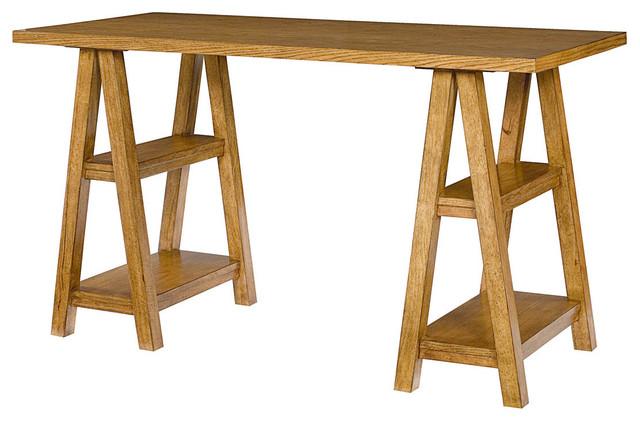 Americana Saw Horse Desk traditional-bar-tables
