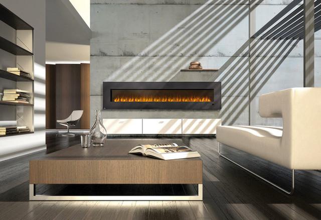 Napoleon 100-Inch Slimline Black Wall Mount Electric Fireplace - EFL100 [No-Heat - Modern ...