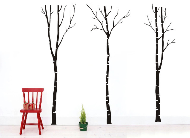 Vinyl Birch Tree Wall Decals Forest Nature Removable Vinyl