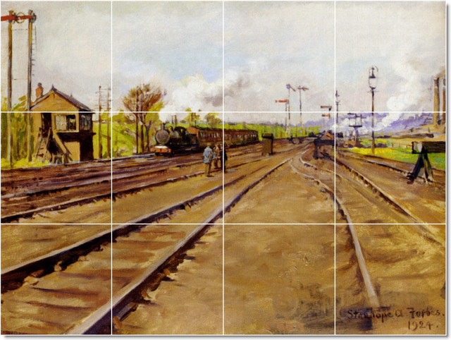 The Sidings Tile Mural By Stanhope Alexander Forbes traditional-tile