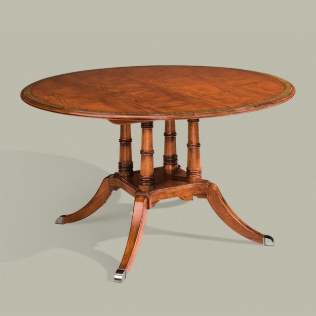 Newport Round Pedestal Dining Table Traditional Dining