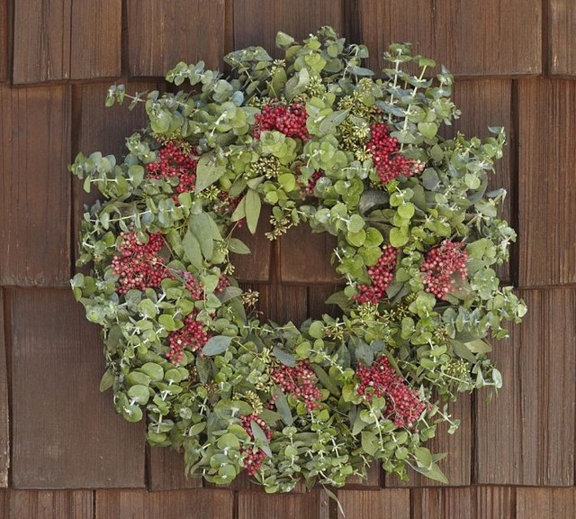 ... Red Berry Wreath - Traditional - Wreaths And Garlands - by Pottery